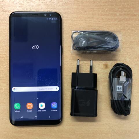 Samsung Galaxy S8 Plus 64GB Duos Black Mulus sebatang kara Garansi SEIN