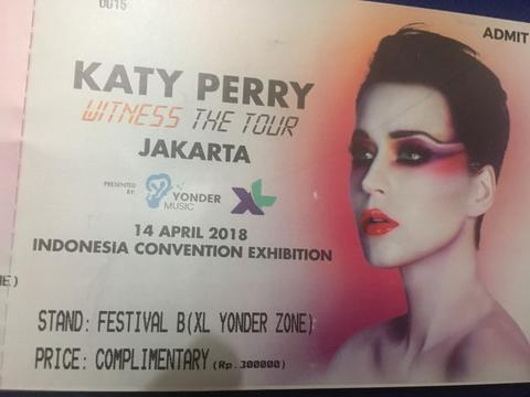 Tiket Katy Perry Witness The Tour Festival B