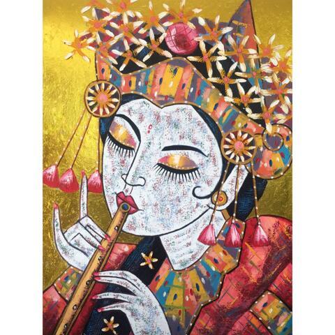 Lukisan Gadis Bali - Modern Style