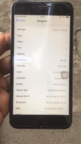 iphone 6s plus 64gb ex singapor