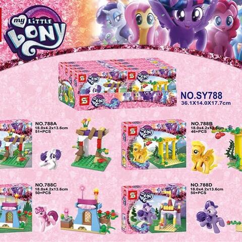SY 788 - Mini Set My Little Pony 4 in 1