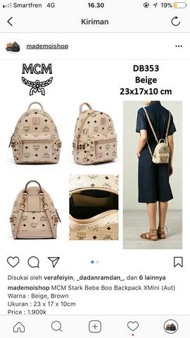 MCM Stark Bebe Boo Backpack XMini (Aut)