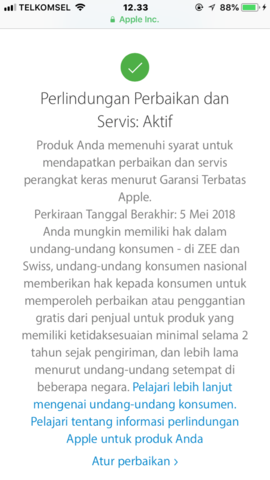 Dijual Apple watch series 2 Blue 42MM Lengkap Ori