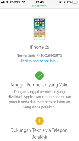 Dijual Iphone 6s Grey 128GB FU Ori Lengkap LTE