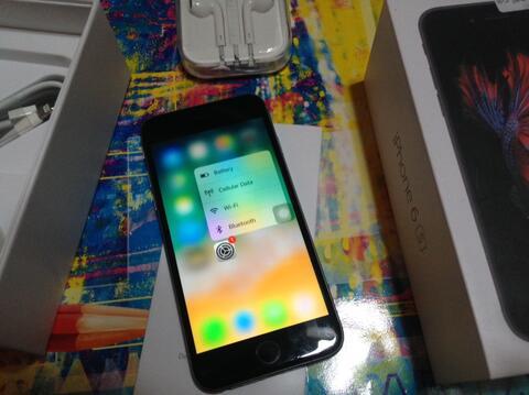 iphone 6s 16Gb Spacegrey fu fullset terawat No minus siap pakai cod bandung