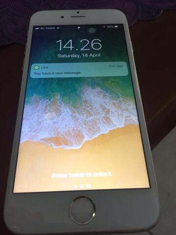 iphone 6 128gb silver ex inter resmi fullset masuk!!