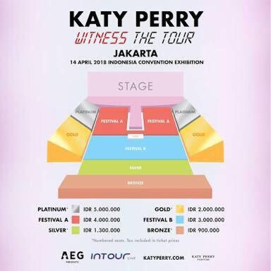 "Tiket Katy Perry ""Witness The Tour"" Jakarta 2018"