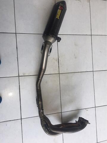 kenalpot kawasaki zx636 akrapovic full sistem titanium
