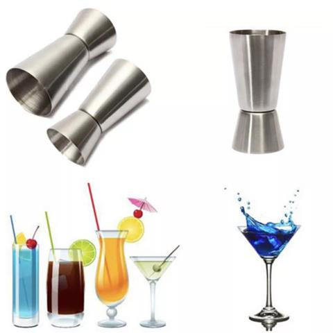 Jigger - Measure Cup Stainless Steel - 25ml 50ml Single Double Shoot Cocktail