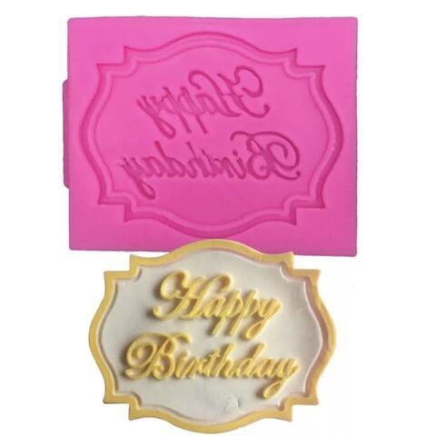 Cetakan Fold Fondant Silikon Coklat Baking Happy Birthday