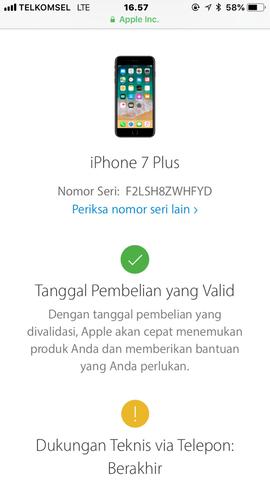 Dijual Cepat Iphone 7 plus 128GB FU Ori Lengkap LTE