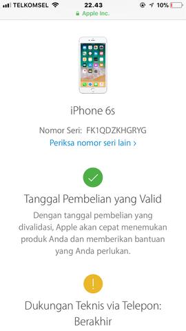 Dijual Cepat Iphone 6s Grey 128GB FU Ori Lengkap LTE