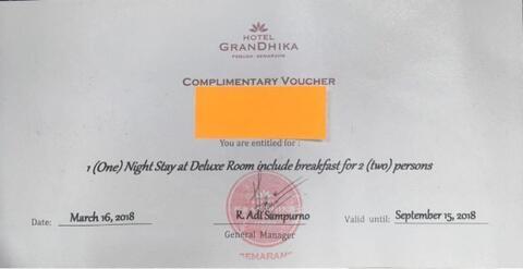 Voucher Hotel Grandhika Semarang