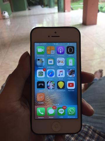 iphone 5 silver 32gb 4g ex resmi indo murah