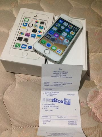 wts iPhone 5s 16gb silver iBox model PA
