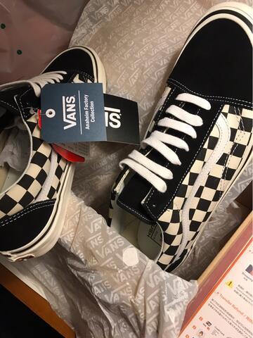 d752104c7e2 Terjual Vans old skool 36 dx anaheim factory black checkerboard