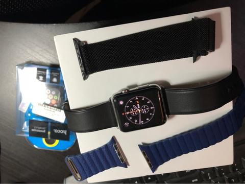 apple watch series 1 stainless steel leather strap