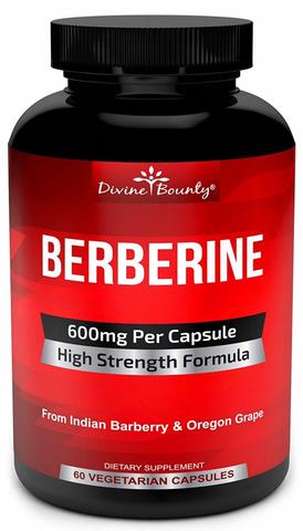 AMAZON'S CHOICE! DIVINE BOUNTY 'HIGH STRENGTH FORMULA: PURE BERBERINE COMPLEX'