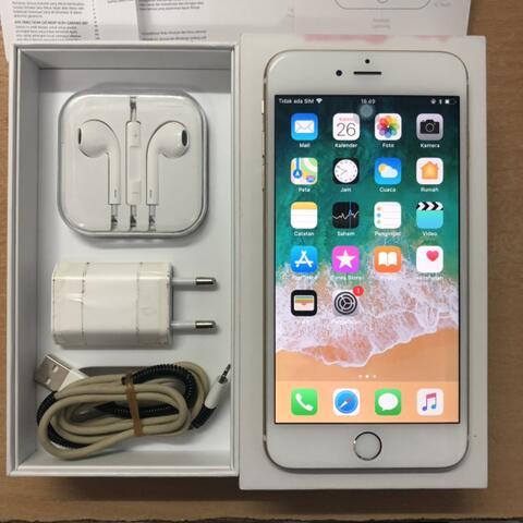 iPhone 6 Plus 64GB Gold Muluss Fullset Original ex Garansi iBox