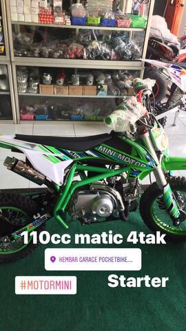 Terjual Motor Mini Trail Anak Bensin 110cc Not Klx Cocok Buat