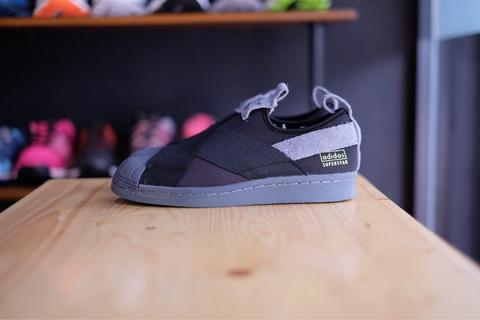 Adidas Superstar Slip On Utility Black Grey Hair - 100% ORIGINAL GUARANTEE!!