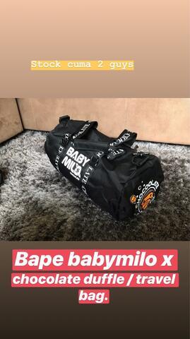 Bape Baby Milo x Chocholate Duffle Bag