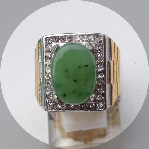 Cincin Pria Batu Akik Giok Nefrit Aceh Natural Nephrite Jade