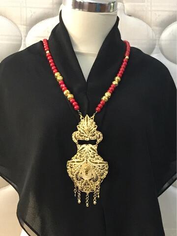 Kalung Liontin Etnik Susun Dua ( Model 1)