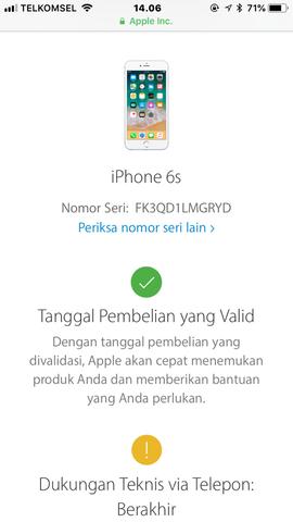 Dijual Cepat Iphone 6s Gold 64GB Lengkap Ori Lte FU