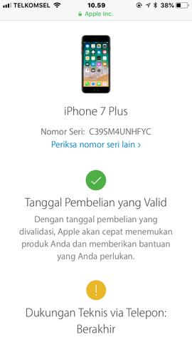 Dijual Iphone 7 plus 128GB Rose Gold Lengkap Ori Lte FU