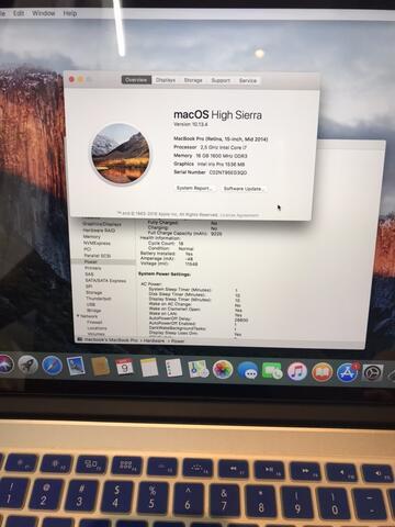 Macbook Pro 15inch 2014 pembelian 2015 512gb NO MINUS