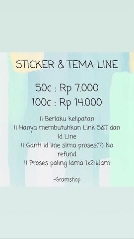Sticker & Tema Line