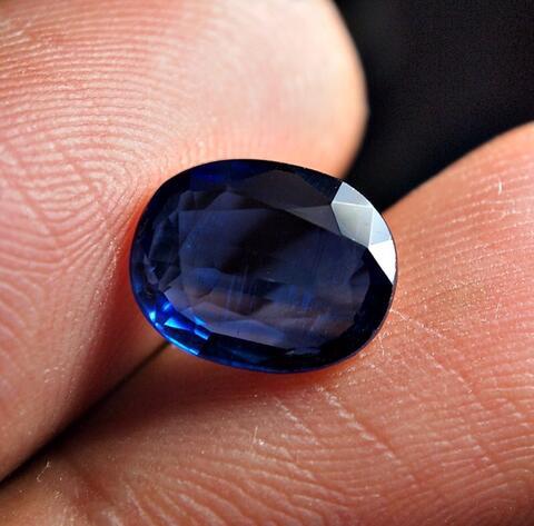 lelang royal blue natural kyanite sapphire aussy