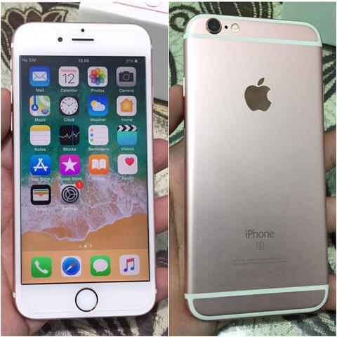 iPhone 6s 64Gb Rose Gold Fullset Mulus Bisa tt