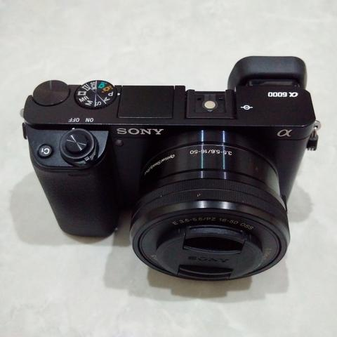 [CAKIM] WTS Sony A6000 kit 16-50mm OSS mulus garansi april 2019