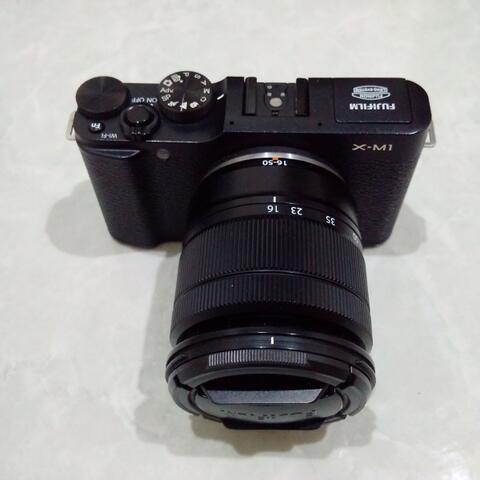 [CAKIM] WTS Fuji Fujifilm X-M1 kit 16-50mm OIS II mulus sekali