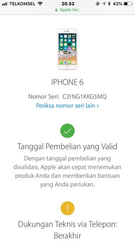 Dijual Iphone 6 Gold 16GB Lengkap Ori Lte Mulus