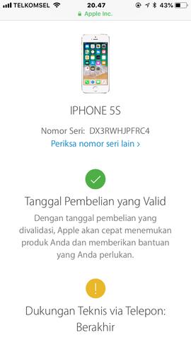 Dijual Cepat Iphone 5s Grey 16GB Resmi Ibox Lengkap Ori LTE