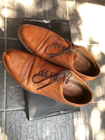 Sepatu Aldo Shoes Thobe Oxford Tan Brown Crazy Horse