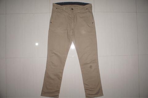 WRANGLER Cream Khakis Slim Fit Jeans