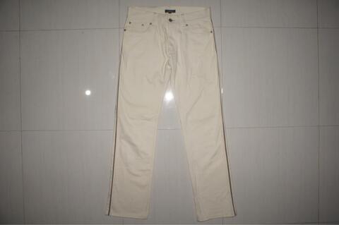 BURBERRY BLACK LABEL White Bone Line Pocket Stretch Slim Jeans