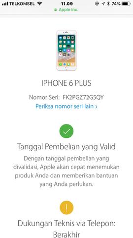 Dijual Iphone 6 plus 64GB Gold Resmi Ibox Lengkap Ori Lte FU