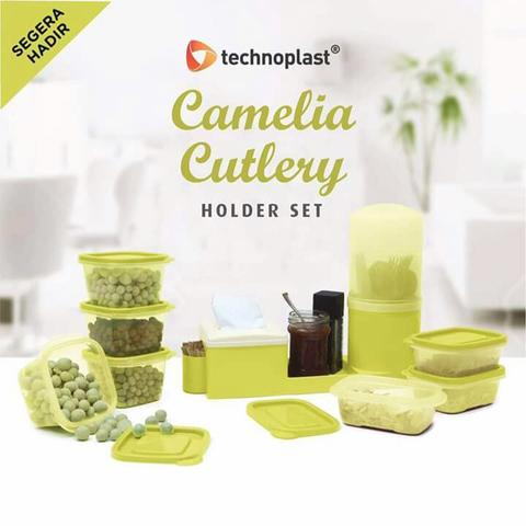 Camelia Cutlery Holder Set