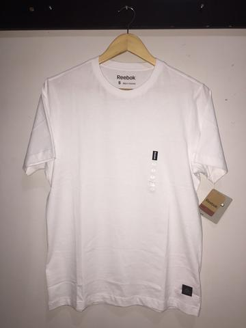 KAOS T-SHIRT POLOS REEBOK 100% COTTON WHITE ORIGINAL
