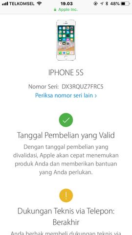Dijual Cepat Iphone 5s silver 16GB Lengkap Ori Lte FU Resmi Ibox
