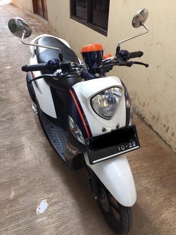 Yamaha Fino 2017 Biru/Putih Nyaris Seperti Baru