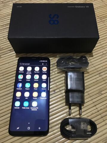 Samsung Galaxy S8 64GB Midnight Black Mengkilat, Siap Rekber & COD Bandung.