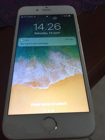 iphone 6 128gb silver ex inter resmi fullset!!