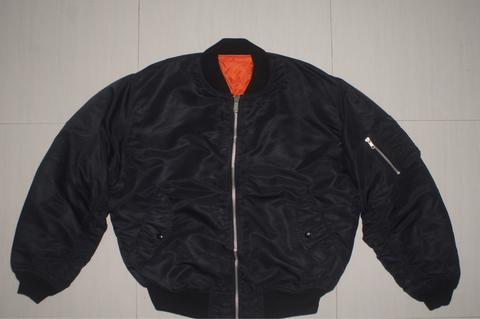 UNIQLO Black Bomber Vintage MA-1 Flight Jacket
