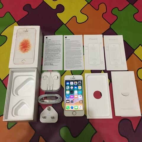 iPhone SE 64GB Rosegold Mulus Fullset Semua (Malang) (Surabaya)
